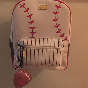 NWT Betsey Johnson baseball backpack.